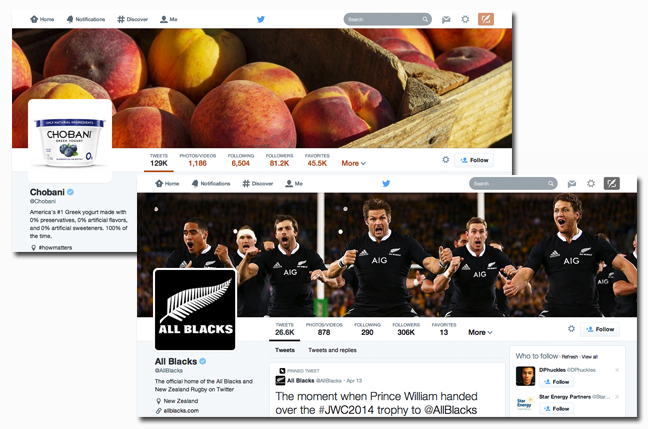 New Twitter Header Images